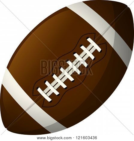 Leather American football ball