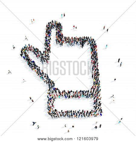 people hand cursor icon