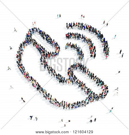 people handset communication icon