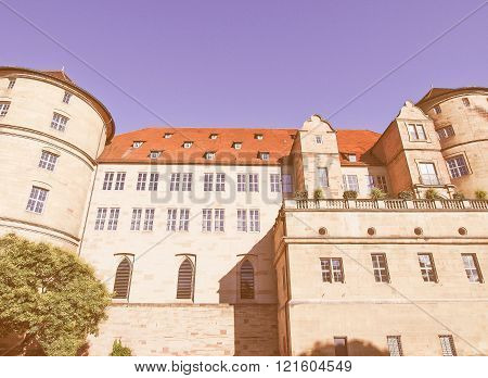 Altes Schloss (old Castle), Stuttgart Vintage