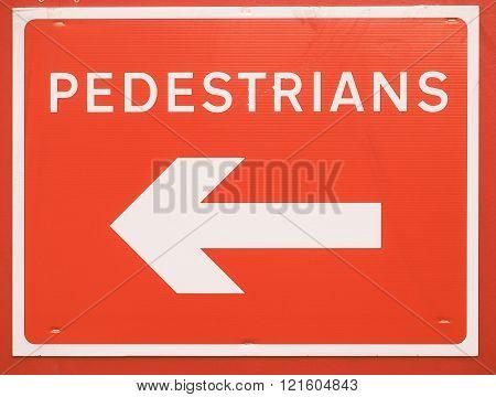 Pedestrians Sign Vintage