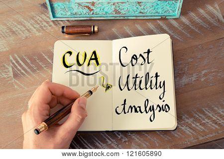 Acronym CUA as Cost Utility Analysis