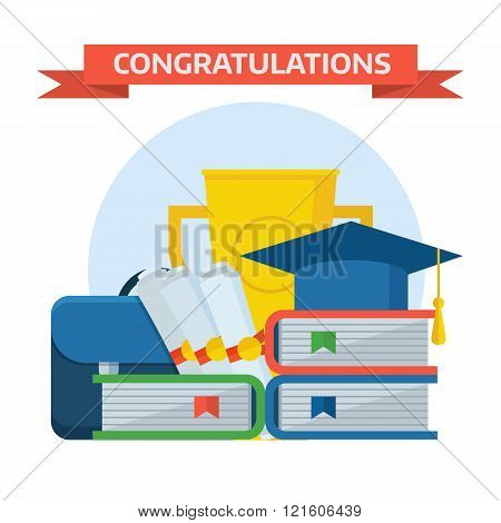 Graduation Awards Concept Vector Illustration