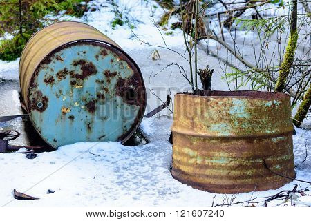 Rusty Old Barrels