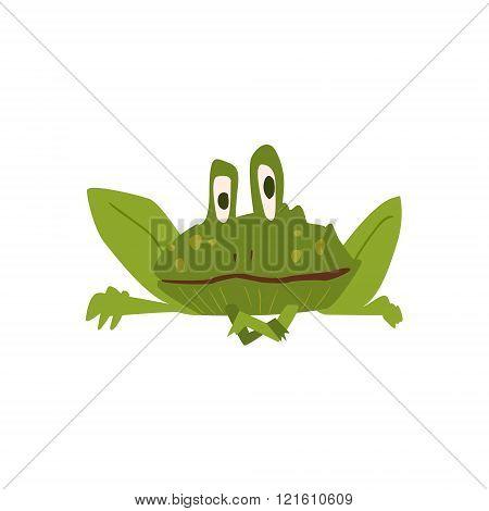 Sitting Toad Flat Cartoon Stylized