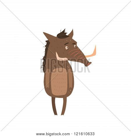 Warthog Standing On Two Legs Flat
