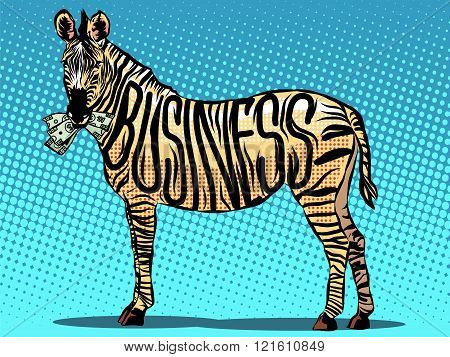 Business Zebra eats money