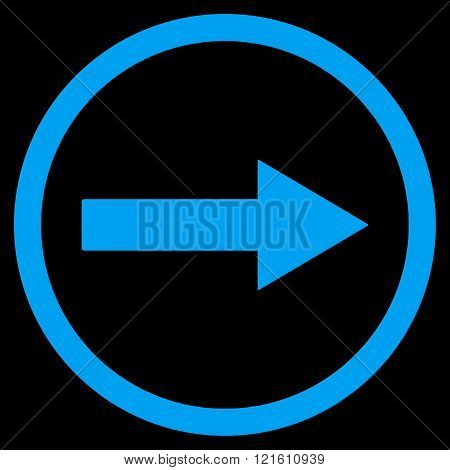 Right Rounded Arrow Flat Vector Symbol