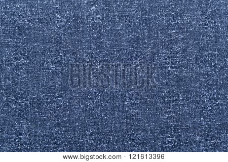 Abstract Speckled Texture Rough Fabric Of Dark Blue Color