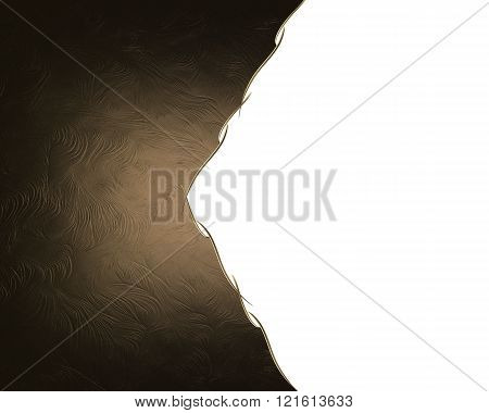 Brown Background With Cut. Element For Design. Template For Design. Copy Space For Ad Brochure Or An