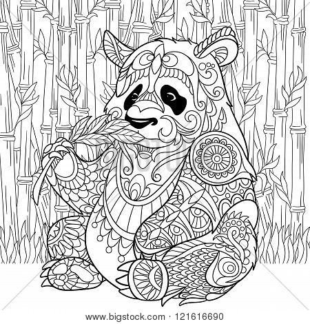 Zentangle Stylized Panda