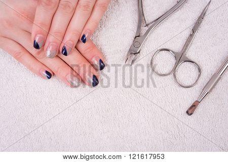 Woman Nail Manicure