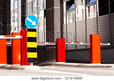 Entrance To The Parking Of Shopping Mall