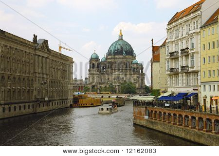 Church on the Spree river in Berlin