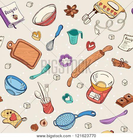Baking tools background