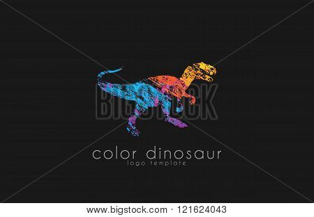 dinosaur logo design. color logo. animal logo. creative logo design.