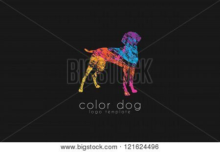 Dog logo design. Animal logo. Colorful logo. Creative logo. Pat logo