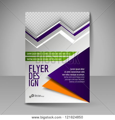 Editable A4 Poster For Design, Presentation, Magazine Cover. Business Flyer.