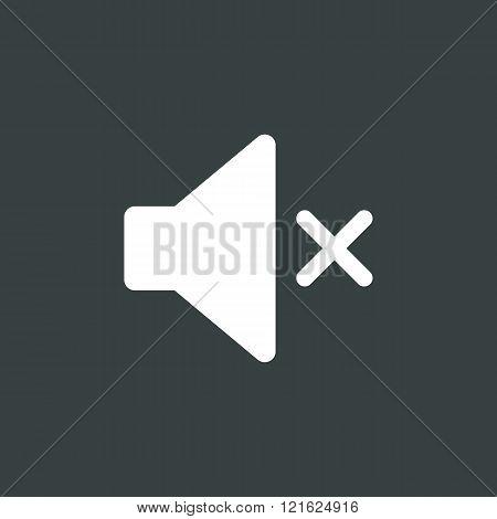 Volume Mute Icon, On Dark Background, White Outline, Large Size Symbol