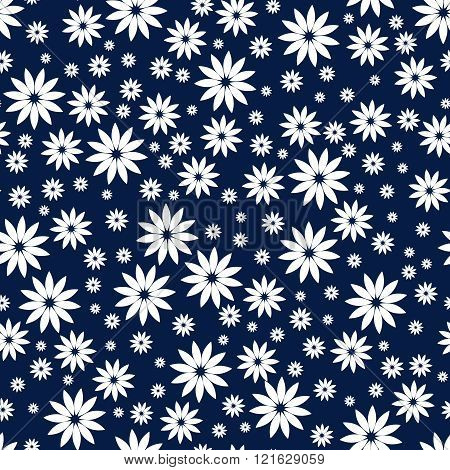 Simple and beauty flower seamless pattern. Vector illustration good for textile or paper wrapping pr
