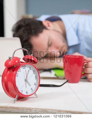 Close-up of alarm-clock