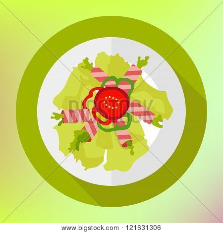 Salad bacon, paprika geen herb