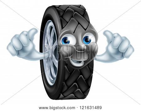 Cartoon Tire Mascot