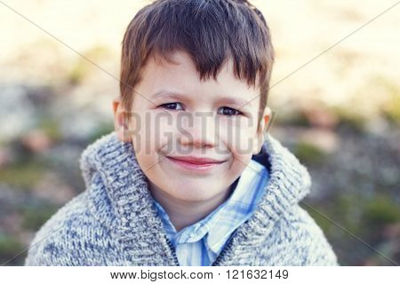 Little Boy In Sweater