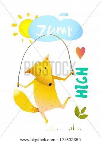 Fox Jumping Rope
