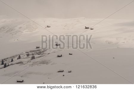 Huts In The Mountains