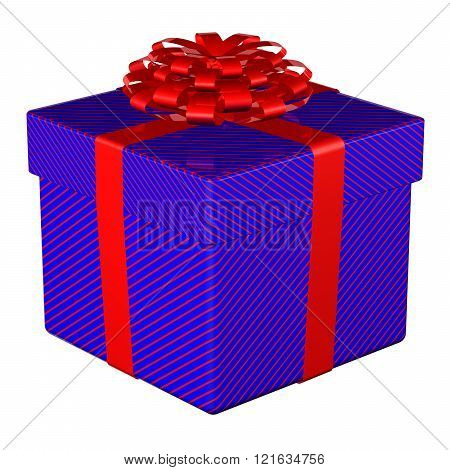 Gift Box Tied Ribbon With A Bow