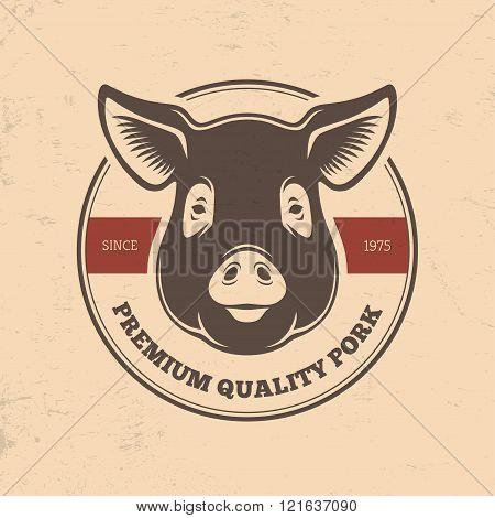 Pig Head Labels