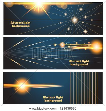 Abstract Lighting Flare Vector Banners  Poster Or Card Vector Illustration Eps 10
