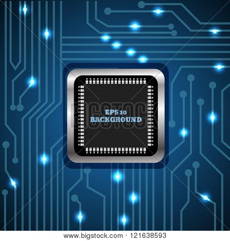Abstract Vector Background Processor And Chip  Engineering  Motherboard  Computer Design Vector Illu