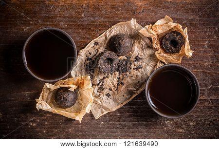 Bowls Of Pu Erh Tea