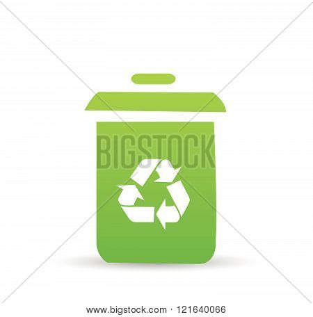 Recycle bin vector illustration on white background