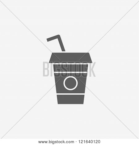 Disposable coffee cup icon