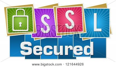 SSL Secured Colorful Squares Stripes