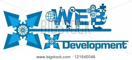 Web Development Abstract Floral Blue