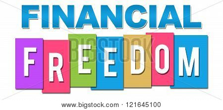 Financial Freedom Professional Colorful
