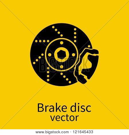Car Brake Discs Icon. Car Parts. Vector Illustration.