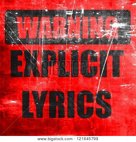 Explicit lyrics sign