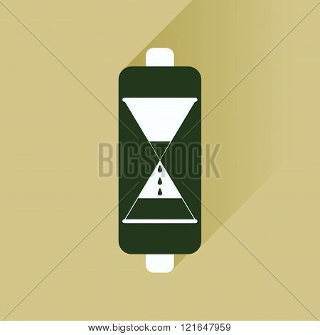 Flat icon with long shadow battery level