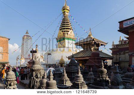 Swayambunath Stupa in Kathamandu, Nepal