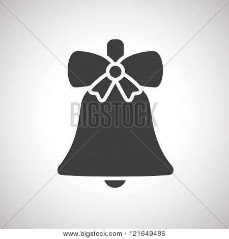 Christmas garland with bow. Vector.