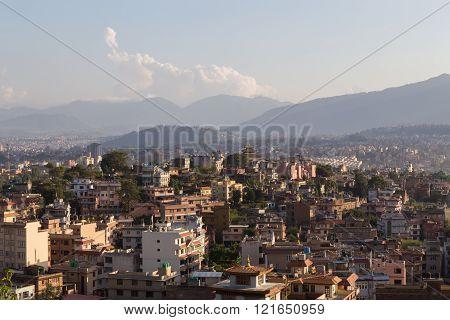 Kathmandu skyline view