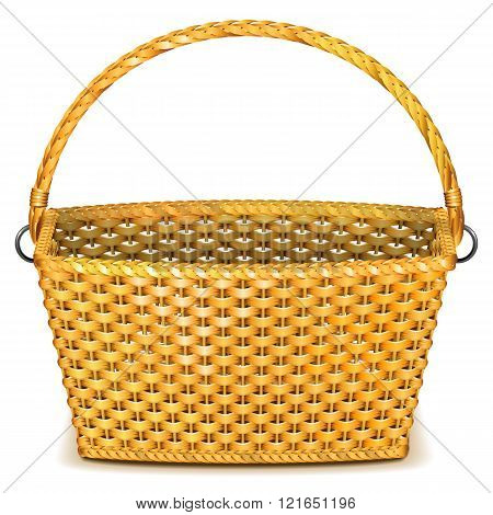 Vector Wicker Basket