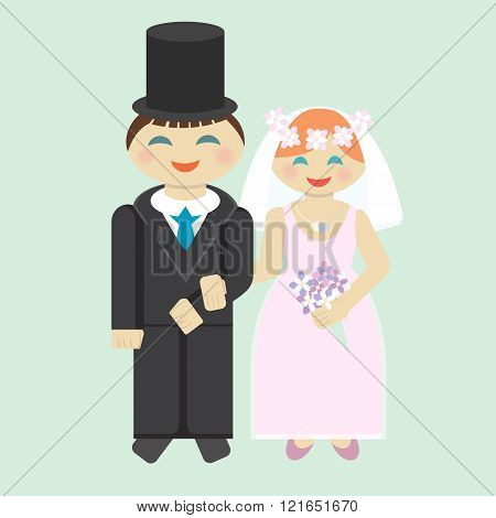 Wedding Icon Bridegroom And Bride