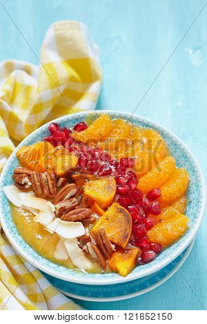 Fall Smoothie in a bowl