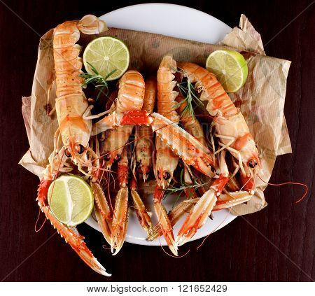 Delicious Grilled Langoustines